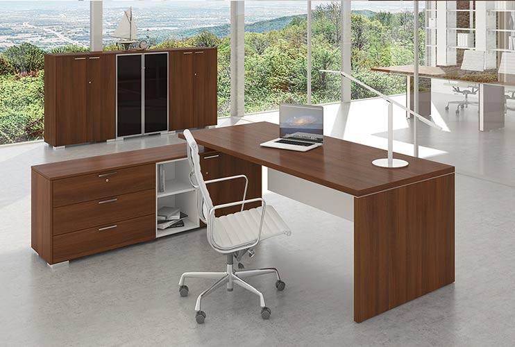 שולחן משרדי- TORIS בגוון ביניים   מס': 3006