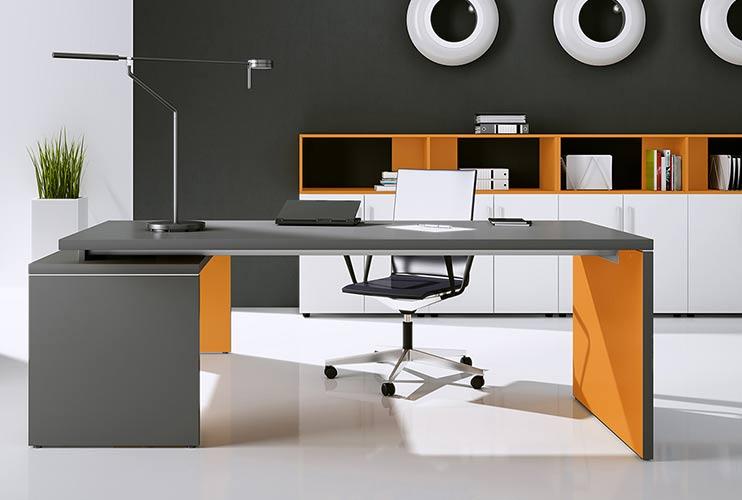 שולחן משרדי- TORIS דגם בשילוב גוונים   מס': 3007