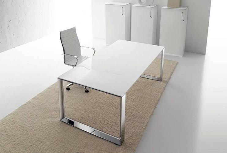 שולחן משרדי- STAR דגם פלטה זכוכית | מס': 3009