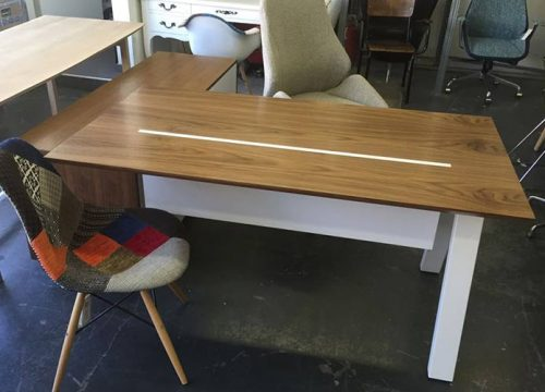 9Ovdim3109 500x360 - שולחן משרדי - מערכת דגם טרפז | מס': 3109