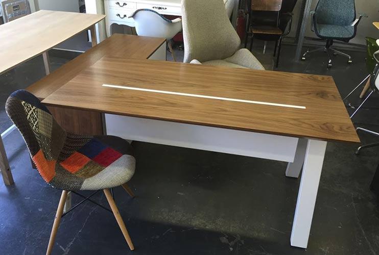 שולחן משרדי – מערכת דגם טרפז | מס': 3109