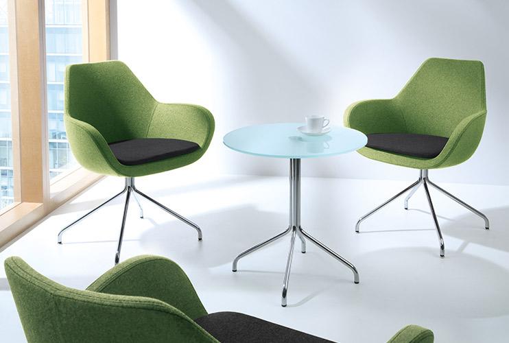 כסא המתנה FAN משולב שני צבעים ושולחן המתנה ברגליים תואמות