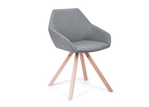 Paged Tuk 2 500x360 - כסא ישיבות / כסא אורח / המתנה דגם TUK רגלי עץ מצטלבות / מס. 448