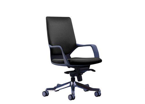 apollo 2 500x360 - כסא ישיבות/ כסא עובד דגם APOLO גב נמוך עם גלגלים / מס. 444