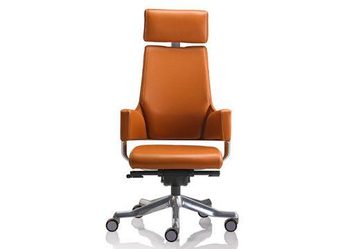 delphi 2 500x360 - כסא מנהלים / כסא לחדר ישיבות דגם DELPHI גב גבוה + משענת ראש בעור/ מס' 341