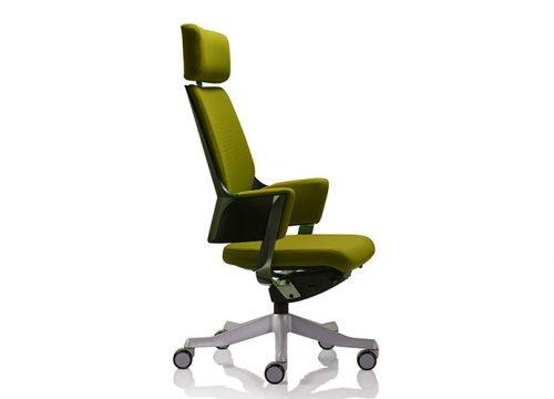 delphi 3 1 500x360 - כסא מנהלים דגם DELPHI גב גבוה + משענת ראש בריפוד צבעוני/ מס' 342