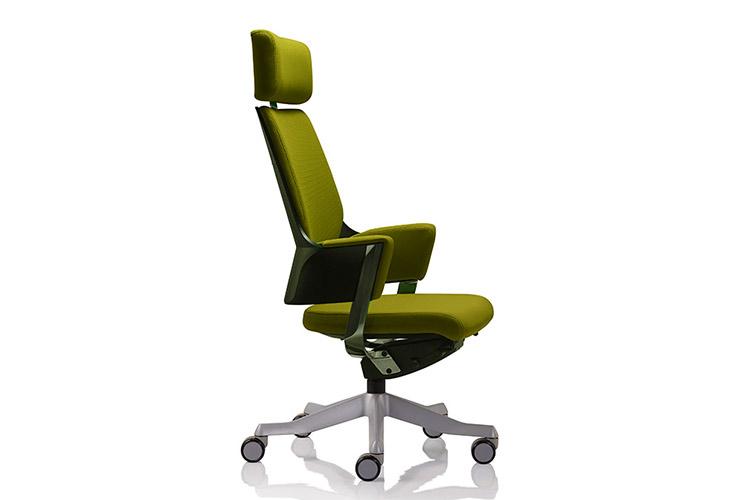 כסא מנהלים דגם DELPHI גב גבוה + משענת ראש בריפוד צבעוני/ מס' 342