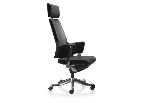 delphi 4 500x360 - כסא מנהלים / כסא לחדר ישיבת דגם DELPHI גב גבוה + משענת ראש בעור/ מס' 340