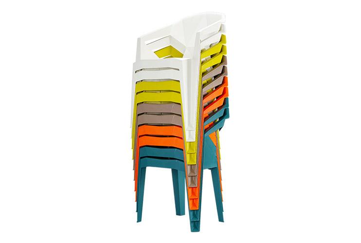 כסאות נערמים – כסא קפיטריה/ כסא אורח דגם MUZE / מס 210(2)