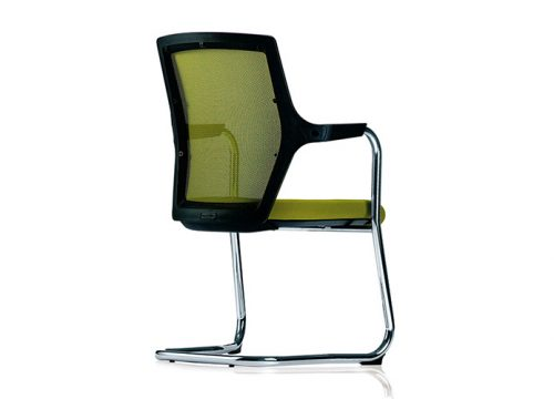 robin 5 500x360 - כסא אורח / כסא לחדר ישיבות דגם ROBIN רגל מגלש / מס' 619