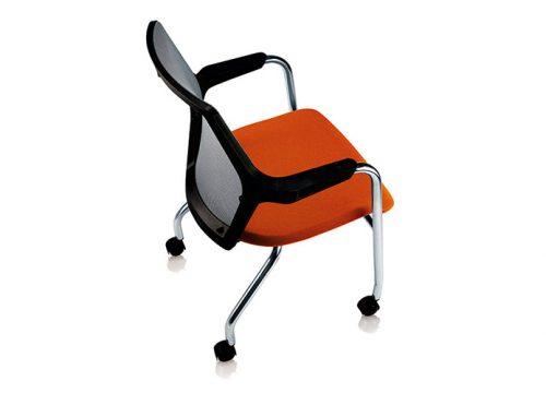 robin 6 500x360 - כסא אורח / כסא לחדר ישיבות דגם ROBIN עם גלגלים / מס' 620