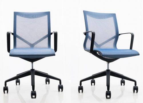 1 500x360 - כסא לחדר ישיבות דגם ברצלונה ברשת כחול- מס' 460