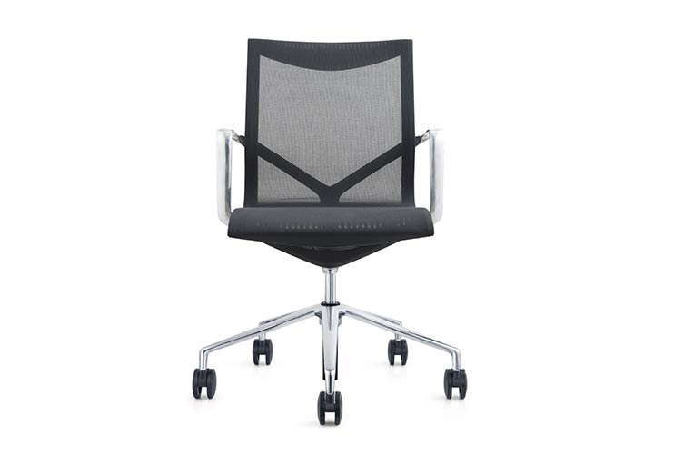 כסא לחדר ישיבות דגם ברצלונה רשת שחור– מס' 463