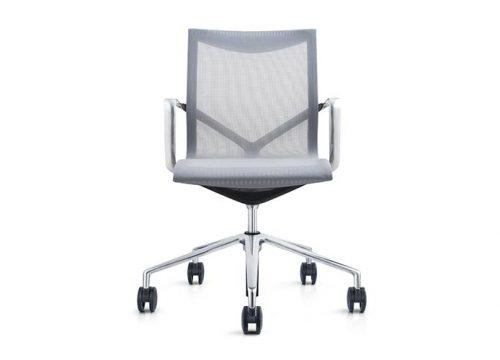 BARCELONA GREY 500x360 - כסא לחדר ישיבות דגם ברצלונה רשת אפור – מס' 462