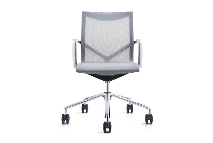 כסא לחדר ישיבות דגם ברצלונה רשת אפור – מס' 462