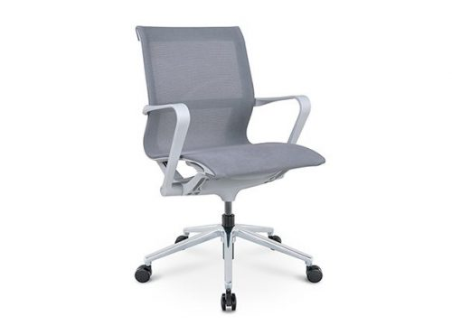 PR רשת אפור גב בינוני חדרי ישיבות 3 2 742x460 1 500x360 - כסא לחדר ישיבות דגם PR רשת שחור גב בינוני מס. 475