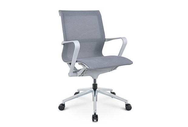 כסא לחדר ישיבות דגם PR רשת שחור גב בינוני מס. 475