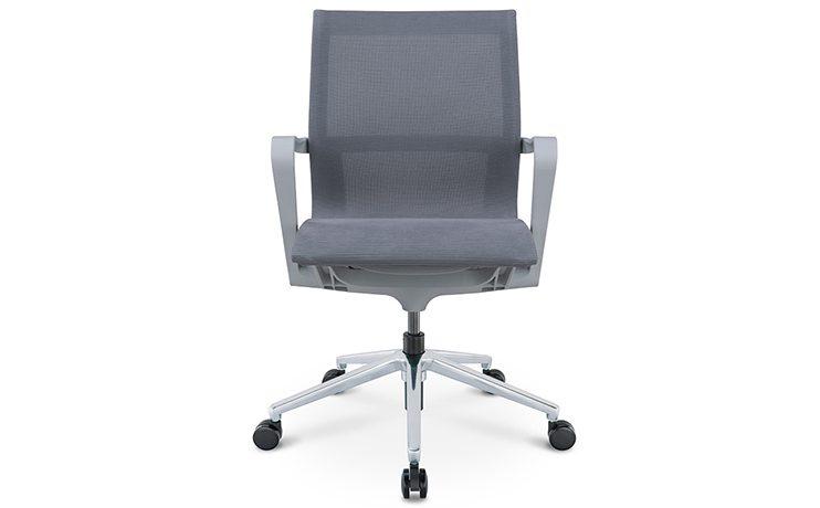 כסא לחדר ישיבות דגם PR רשת אפור גב בינוני מס. 474