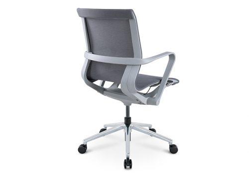 PR רשת אפור גב בינוני חדרי ישיבות 500x360 - כסא לחדר ישיבות דגם PR רשת שחור גב בינוני מס. 473