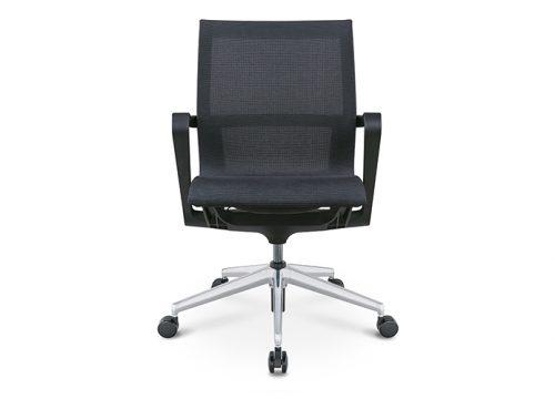 PR רשת שחור גב בינוני ישיבות 2 500x360 - כסא לחדר ישיבות דגם PR רשת שחור גב בינוני מס. 471