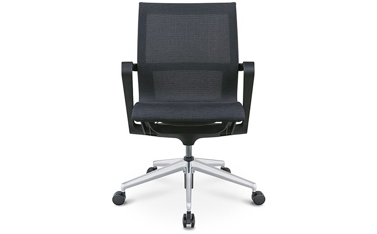 כסא לחדר ישיבות דגם PR רשת שחור גב בינוני מס. 471