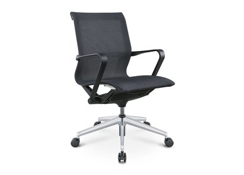 PR רשת שחור גב בינוני ישיבות 3 500x360 - כסא לחדר ישיבות דגם PR רשת שחור גב בינוני מס. 472