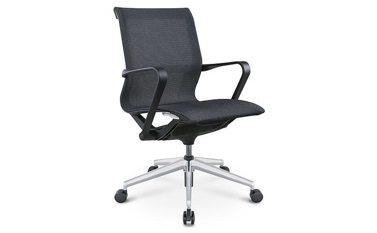 כסא לחדר ישיבות דגם PR רשת שחור גב בינוני מס. 472