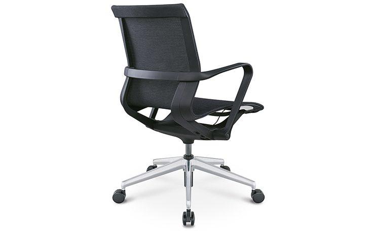 כסא לחדר ישיבות דגם PR רשת שחור גב בינוני מס. 470