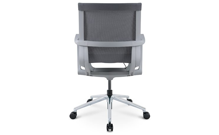 כסא לחדר ישיבות דגם PR רשת שחור גב בינוני מס. 476